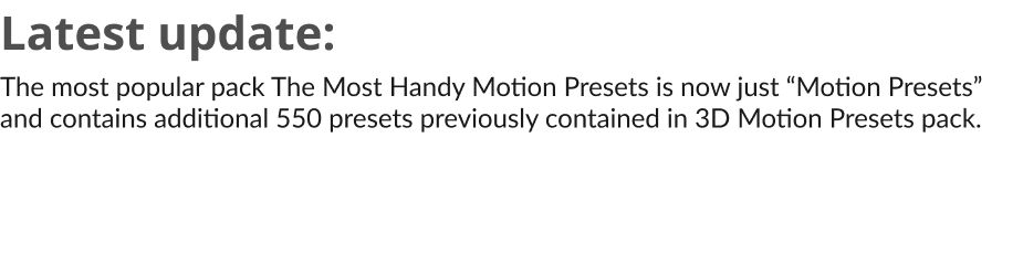 The Most Handy Motion Presets for Animation Composer - 1